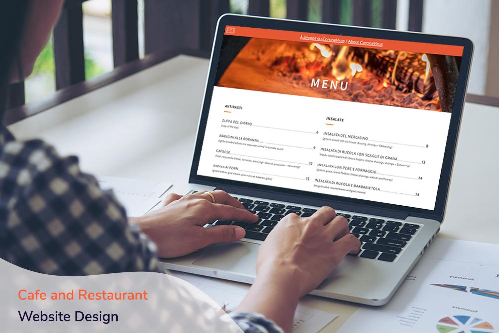 Cafe and Restaurant Website Design