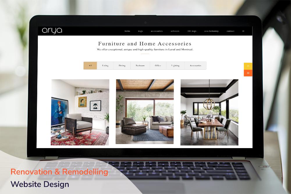 Renovation & Remodelling Website Design